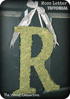 The Wood Connection: DIY Moss Letter Tutorial. This would be nice to hang on our garage door/backyard.