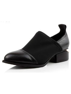 Notched Heel Pointed Shoes