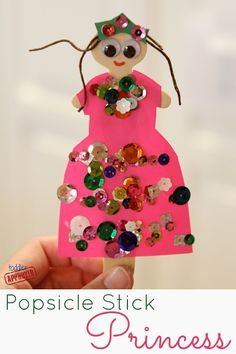Toddler Approved!: Popsicle Stick Princess Craft {Mom and Tot Craft Time}