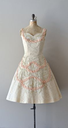 VauxleVicomtesse dress / vintage 1950s dress / lace by DearGolden