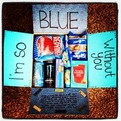 I'm so blue without you care package for those long distance friends, family members, and significant others