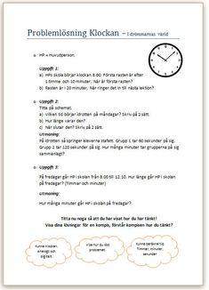 Problemlösning beräkna tid. I drömmarnas värld. | Malins PPlugg