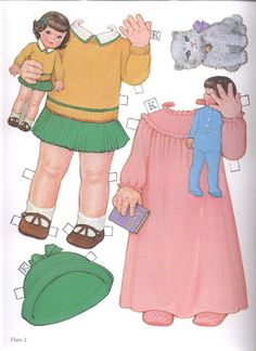 1985 Reproduction of BEST FRIENDS Paper Dolls Publisher: Dover <> Original 1930s by Queen Holden 10 of 16