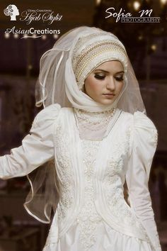 - A part from the makeup - Amazing Hijab Wedding Gown.
