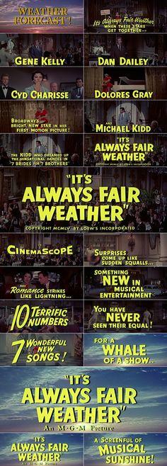 IT'S ALWAYS FAIR WEATHER (1955) trailer typography