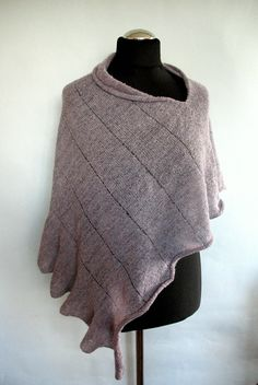 Lavender Lilac Shawl Cape Clothing Purple Violet by Initasworks, $79.00
