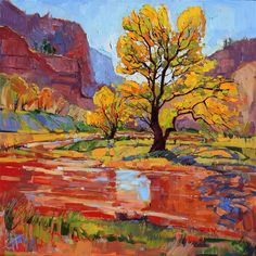 Zion National Park original oil painting for sale, by Erin Hanson