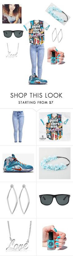 """""""Trap Queen"""" by dopeoutfitmaker ❤ liked on Polyvore featuring New Look, Full Tilt, Dinny Hall, Ray-Ban, Bling Jewelry and Cirque Colors"""