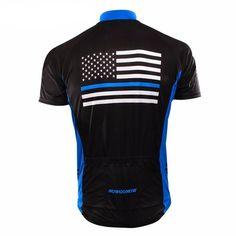 Blue American Flag Cycling Jersey. Przybornik RowerzystyKoszulki ... 2642abed0