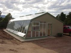 Cord Parmenter's Passive Solar Greenhouse, 18.5 X 44' Year Around Sustainable Cold Climate Greenhouse. DIY