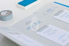 Stop & Dream   Invitación de boda · Wedding card: Blue Love