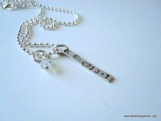 Sterling Silver Rectangle Runner's Charm with by TheSterlingCharm, $30.00