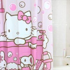 For Modesty A Hk Shower Curtain Hello Kitty Bathroom Items