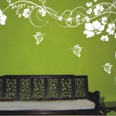 I love this mural... I so want it in beige on tan wall to go with my burlap and crochet