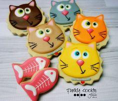 Cat cookies by Jill FCS