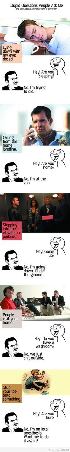 stupid people....