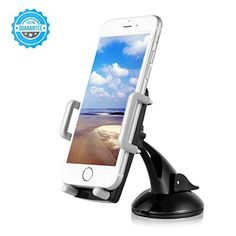 awesome Car Phone Mount, Goodsail O-in-B Universal 360° Adjustable Cell Phone Car Mount for Apple iPhone / Samsung Galaxy / Android / GPS and Other Cellphones