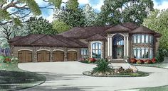 House Plan 82316 | European Plan with 8454 Sq. Ft., 6 Bedrooms, 8 Bathrooms, 4 Car Garage