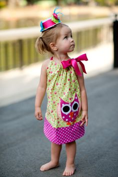 If baby #2 turns out to be a girl... I love this owl dress by Izzy's Boutique!