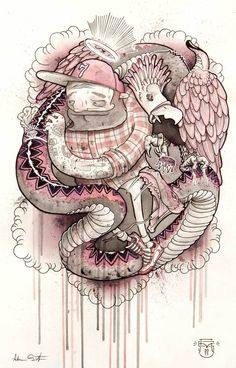 Drawings and Paintings 2012 by Adam Smith, via Behance