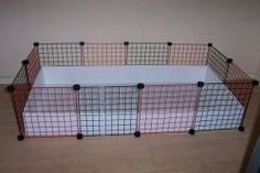 How to make a C guinea pig cage. I made one and LOVE it! It's so easy to clean and care of them.ahh I want one of these for Millie,need a bigger place ASAP