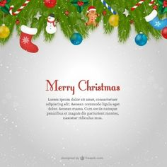 Free Christmas Card Email Templates Christmas Greeting Banner Vector  Imageschristmas  Pinterest .