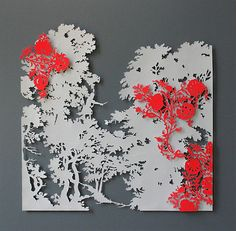 paper cut out forest