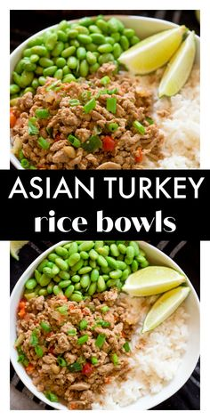 Asian Turkey Rice Bowls are super easy to whip up, are great for meal prep, and are also freezer friendly! The Asian flavored turkey takes less than 20 minutes to cook and is delicious paired with fluffy rice and cooked edamame. Make a double batch and freeze half of it for later! Best Blogs, Edamame, Rice Bowls, Fried Rice, Meal Prep, Frozen, Turkey, Healthy Recipes, Asian