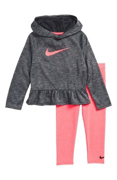 Nike Dry Hoodie & Leggings Set available at Baby Outfits, Toddler Nike Outfits, Kids Outfits, Nike Kids Clothes, Kids Clothing, Little Girl Fashion, Toddler Fashion, Kids Fashion, Fashion 2016