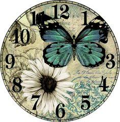 распечатки для 15 октября — Яндекс.Диск Clock Craft, Diy Clock, Decoupage Vintage, Decoupage Paper, Cool Clocks, China Painting, Vintage Posters, Vintage World Maps, Shabby
