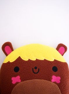 This super cute BuBear plush measures 10 inches and is made of super soft fleece fiber. Can double as a pillow!    The plush is scheduled to ship end of November.