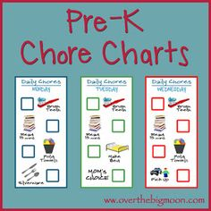 Over the Big Moon: Pre-K Chore Charts [Free Printable]