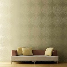 """Try wall stencils instead of expensive wallpaper! Cutting Edge Stencils offers the best stencils for DIY décor - stencils expertly designed by professional decorative painters Janna Makaeva and Greg Swisher who have over 20 years of painting experience. We are a reputable stencil company that stands behind its high quality product. We are honored to have your 100% positive feedback :)  This cool contemporary stencil is inspired by sound wave patterns. We call it """"Resonance"""" and feel that it…"""