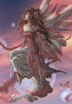 Nene Thomas Daybreak Fairy Ceramic Tile Art