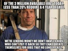 Dedication to finding a good job takes more hours than working at one. I spent hrs a week looking. Ask your family, friends, and everyone you see if they know where anyone is hiring or know of a job anywhere. This is how you find work! Truth Hurts, It Hurts, Great Quotes, Inspirational Quotes, Motivational, Mike Rowe, Political Quotes, Conservative Politics, Way Of Life