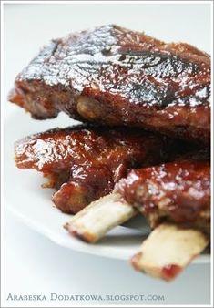 ARABESKA II: Żeberka w sosie barbecue Polish Recipes, Polish Food, Barbecue, French Toast, Grilling, Pork, Food And Drink, Meat, Cooking