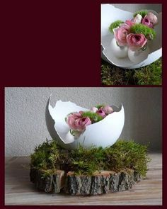 Prepare the finest paper mache, modeling clay or plaster egg for Easter! - Prepare the finest paper mache, modeling clay or plaster egg for Easter! Give a lecture there … - Deco Floral, Arte Floral, Egg Art, Ikebana, Paper Mache, Easter Crafts, Spring Flowers, Happy Easter, Beautiful Gardens