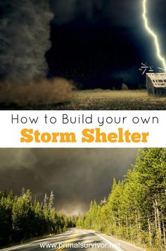 Learn how to build your own storm shelter, keep costs low, and even get FEMA grants to cover the cost of building a DIY storm shelter. Survival Shelter, Survival Food, Wilderness Survival, Outdoor Survival, Survival Prepping, Survival Skills, Survival Hacks, Emergency Preparedness, Bushcraft Skills
