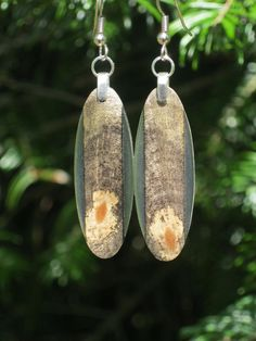 Wood Resin Earrings Lighweight Reclaimed by forestlifecreations, $29.95