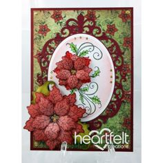 Gallery | Red Poinsettia Swirls - Heartfelt Creations