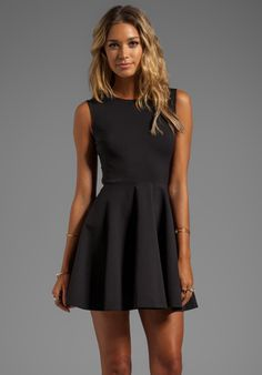 Diane von Furstenberg Jeannie Dress in Black  I think I could make this.