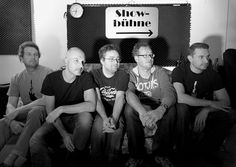 V. l. n.r.: Michi Seifert (bass), Andi Purucker (drums), Raph Bojen (voc, guit), Eric Thöner (keyboards) & Dirk Huppert (guit).