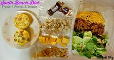 South Beach Diet Phase 1 Meals and Snacks #SouthBeachDiet,