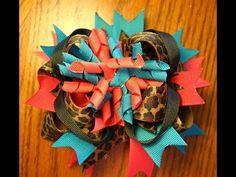 ~Design Idea~ Wild Leopard hairbow tutorial (stacked bow tutorial)