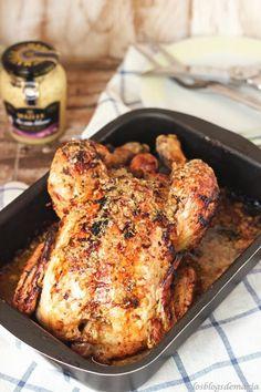 Pollo a la mostaza de vino Pollo Chicken, Great Recipes, Favorite Recipes, Winner Winner Chicken Dinner, Dessert, I Love Food, Chicken Recipes, Food Photography, Pork