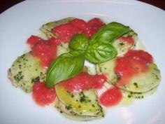 raw vegan ravioli (turnip)