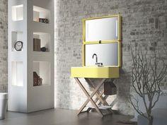 Lavabo con toallero MY BAG by Olympia Ceramica diseño Gianluca Paludi