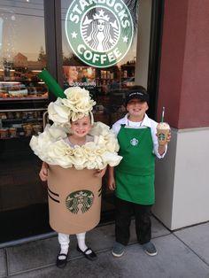 Starbucks Halloween costume - Frappuccino and Barista