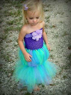 The Little Mermaid Costume, Outfit, tutu, girls dress, Halloween costume, Ariel, Disney costume, Baby, Girl, Toddler, Infant, tulle dress,