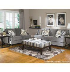 Ashley Furniture Yvette   Steel Stationary Sofa W/ Loose Seat Cushions    Pilgrim Furniture City   Sofa Hartford, Bridgeport, Connecticut